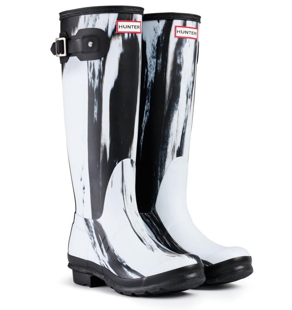 Hunter Original Nightfall Wellington Boots Black/White. Larger Image