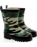 Kids camouflage wellies