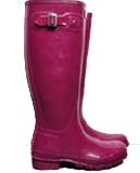 Cranberry hunter wellies