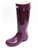 Purple gloss Hunter Wellies