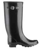 Huntress wellies glossy black
