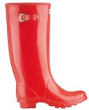 Huntress wellies red