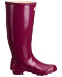 Glossy Violet Huntress wellies