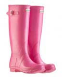 Ladies pink hunter wellies