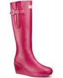 Pink wedge wellies