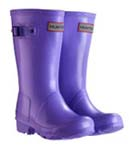 Purple Kids Hunter Wellies