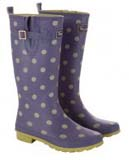Purple Polka Dot Wellies