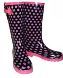 Purple Blue Spotted Wellies
