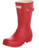 red short Hunter Wellies